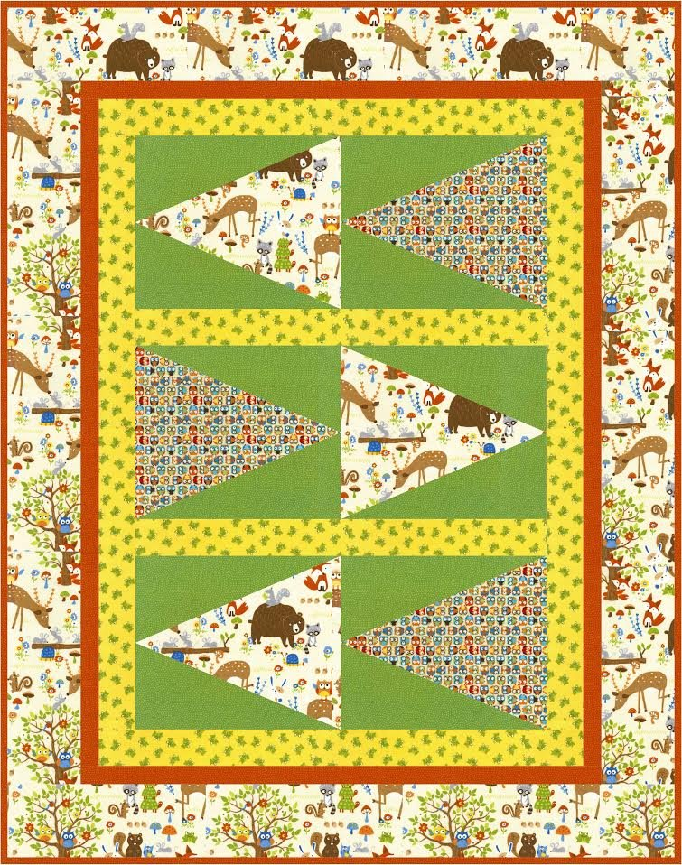 Pennant Race quilt pattern - downloadable