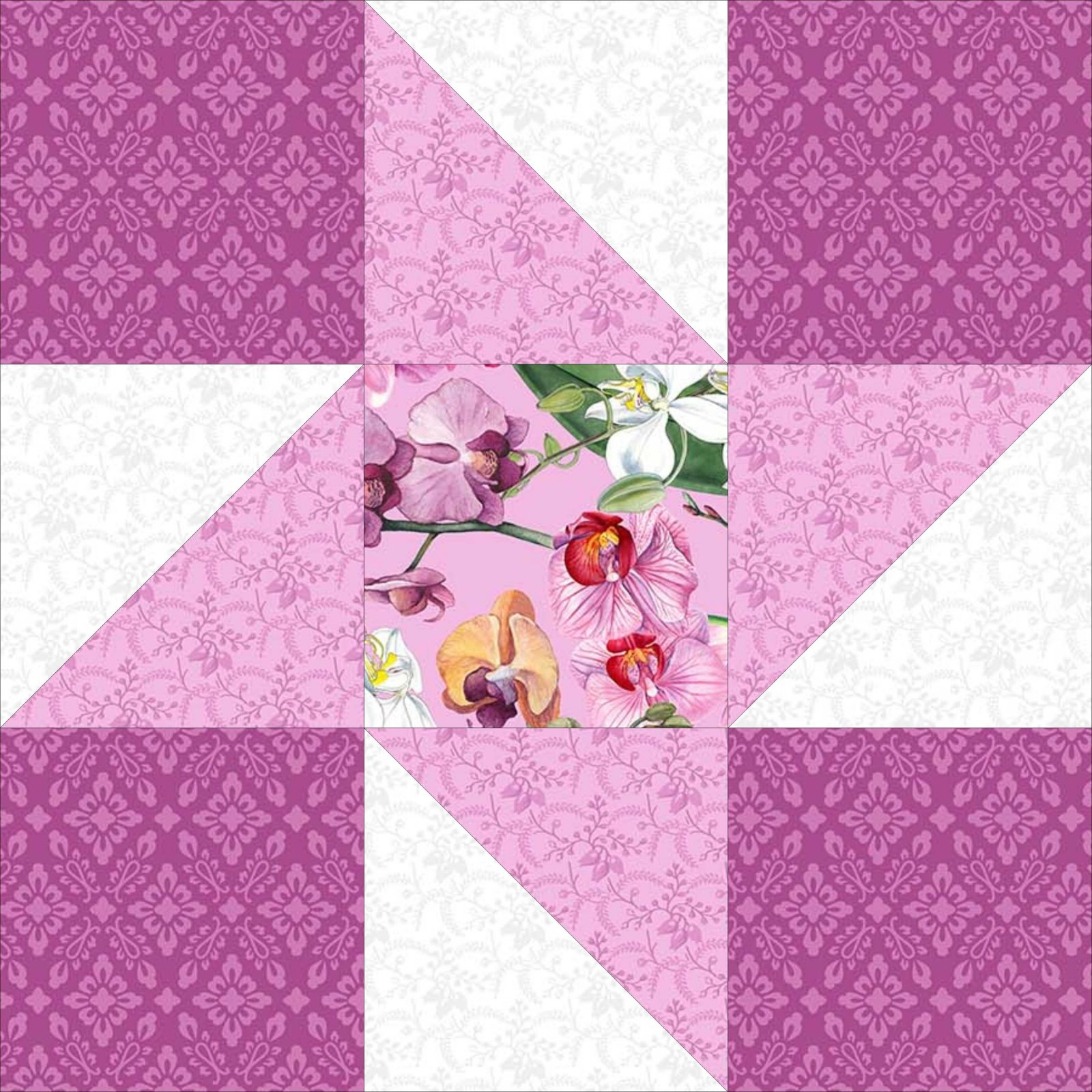 Friendship Star Variation Block - Free quilt pattern