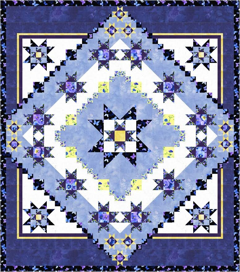 Galaxy quilt pattern - downloadable