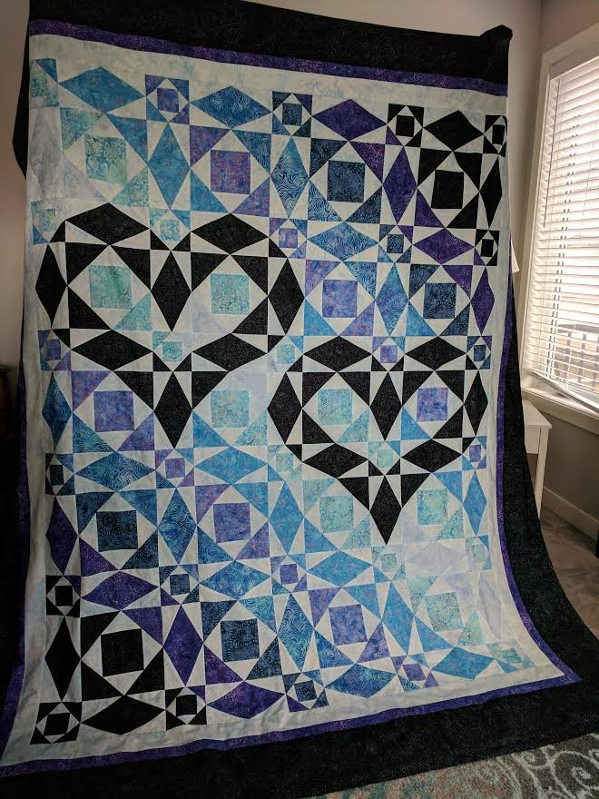 Our Hearts Will Go On - queen quilt kit  - King size available by request.