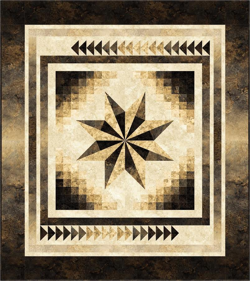 Gradient Star Throw quilt kit