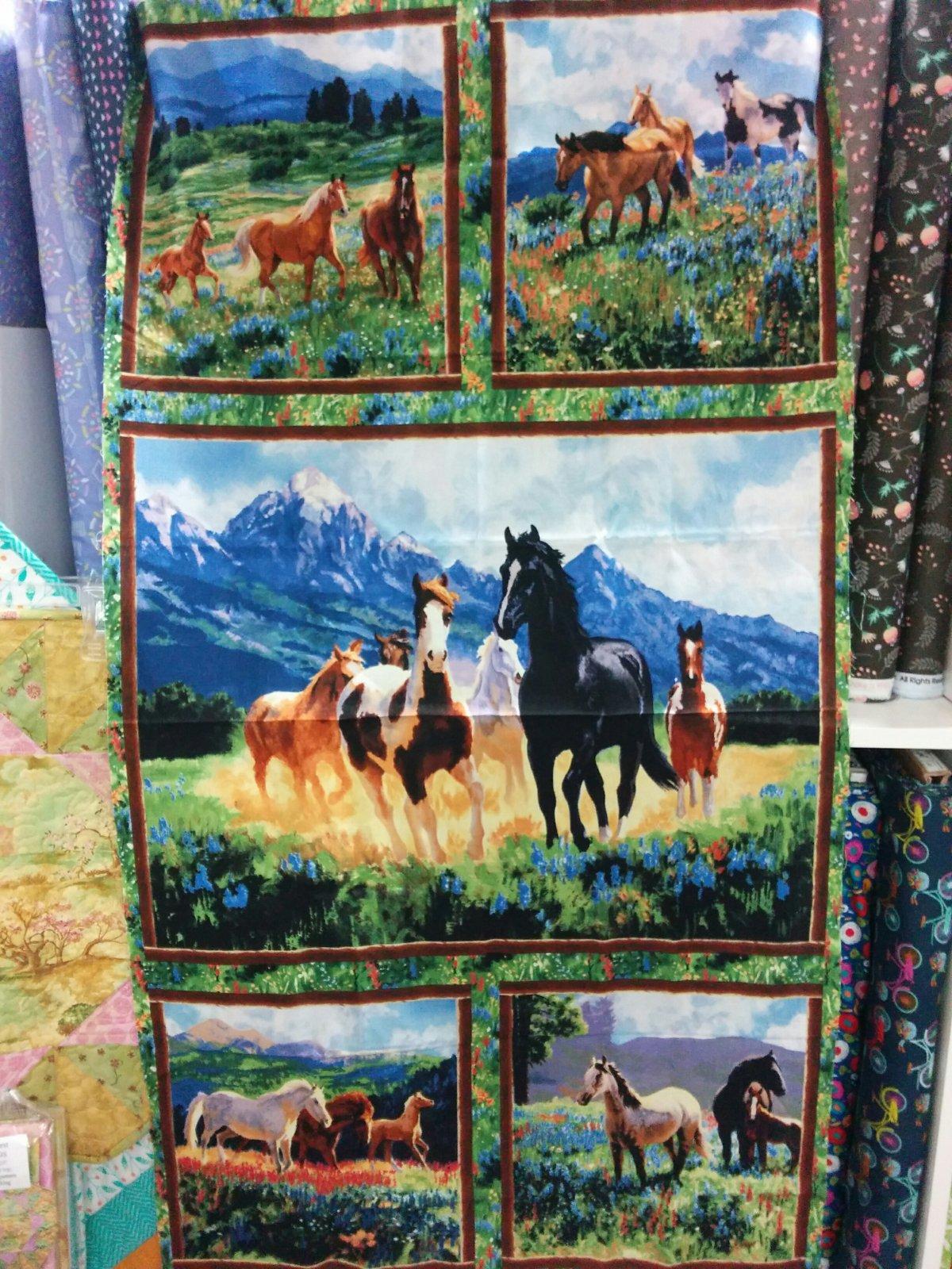 Panel#194 - Wild in Bloom  - Horses