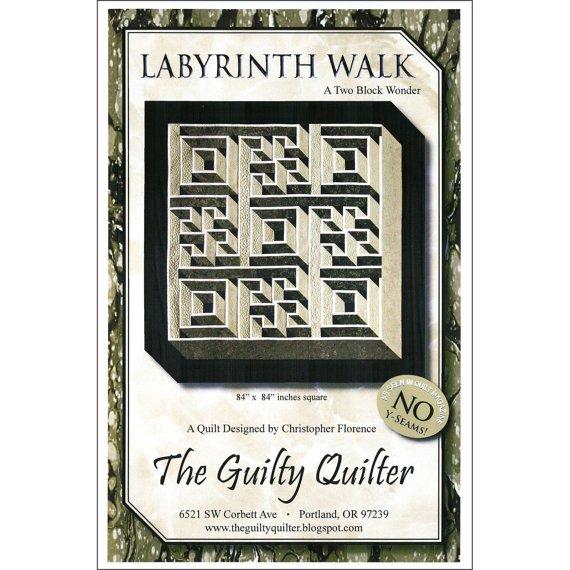 Labyrinth Walk queen size quilt pattern