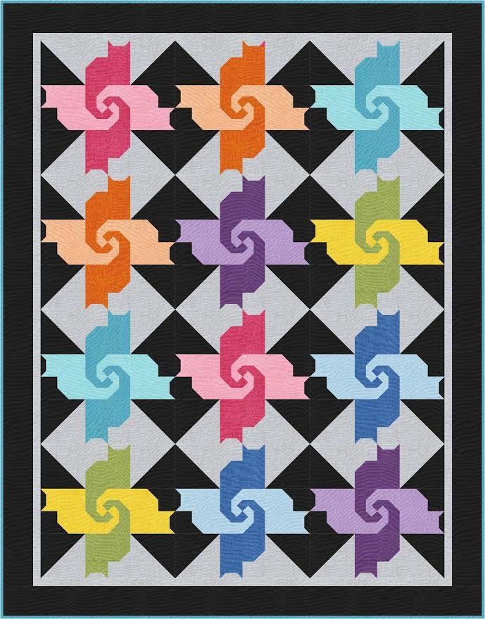 Cats in the Kitchen - quilt kit - Throw size