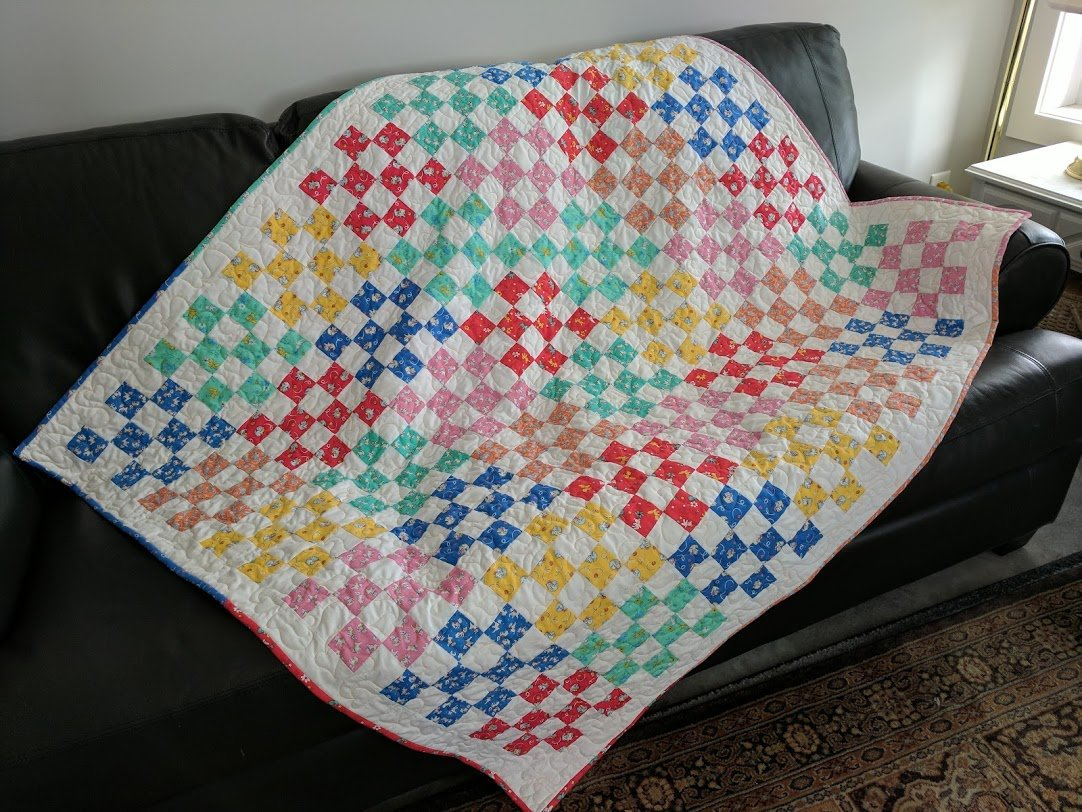 Sweet Sixteen - throw size quilt kit