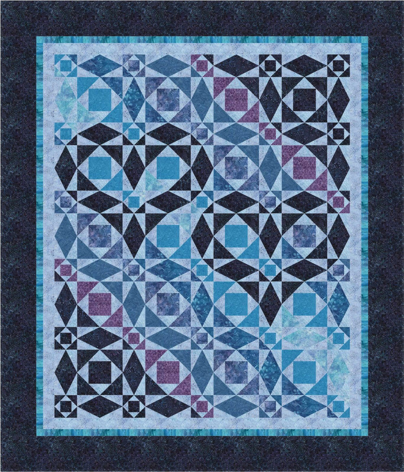 Our Hearts Will Go On  - queen Batik quilt
