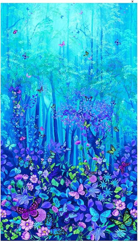 Forest Magic quilt panel - cotton