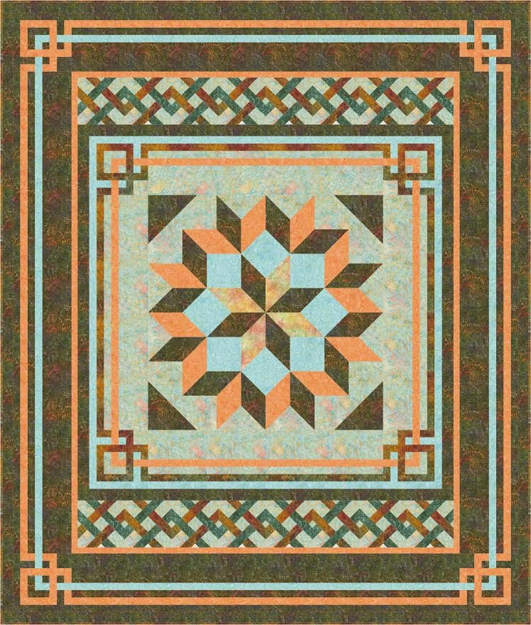 Carpenter's Square quilt pattern - downloadable