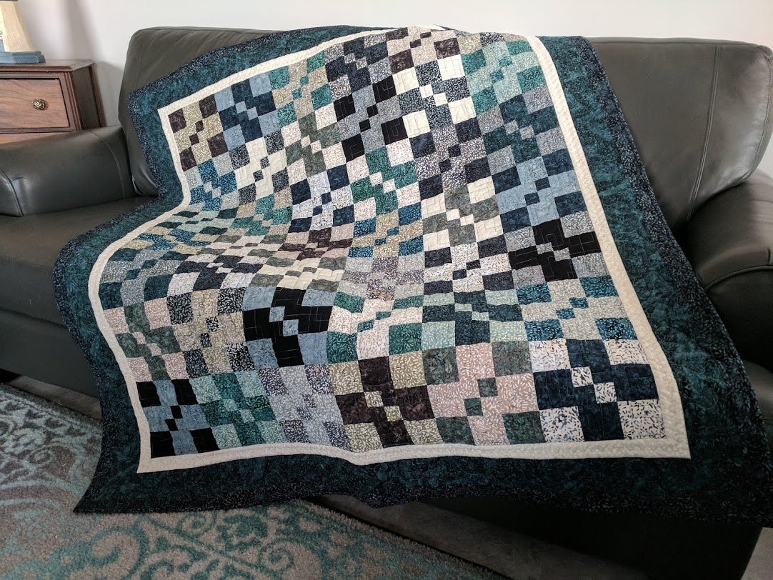 Pebbles throw size quilt kit