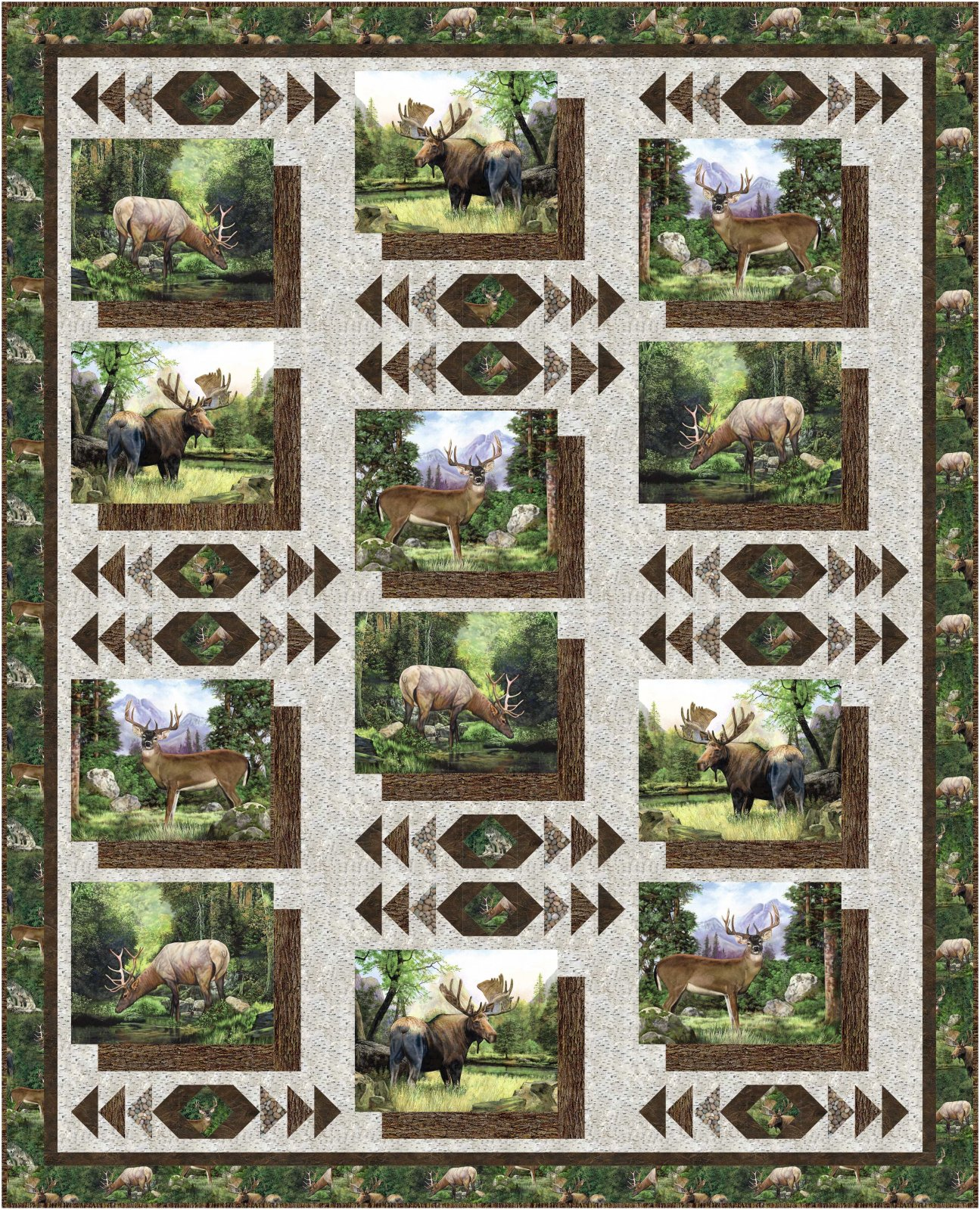 Photo Album quilt and runner pattern - downloadable