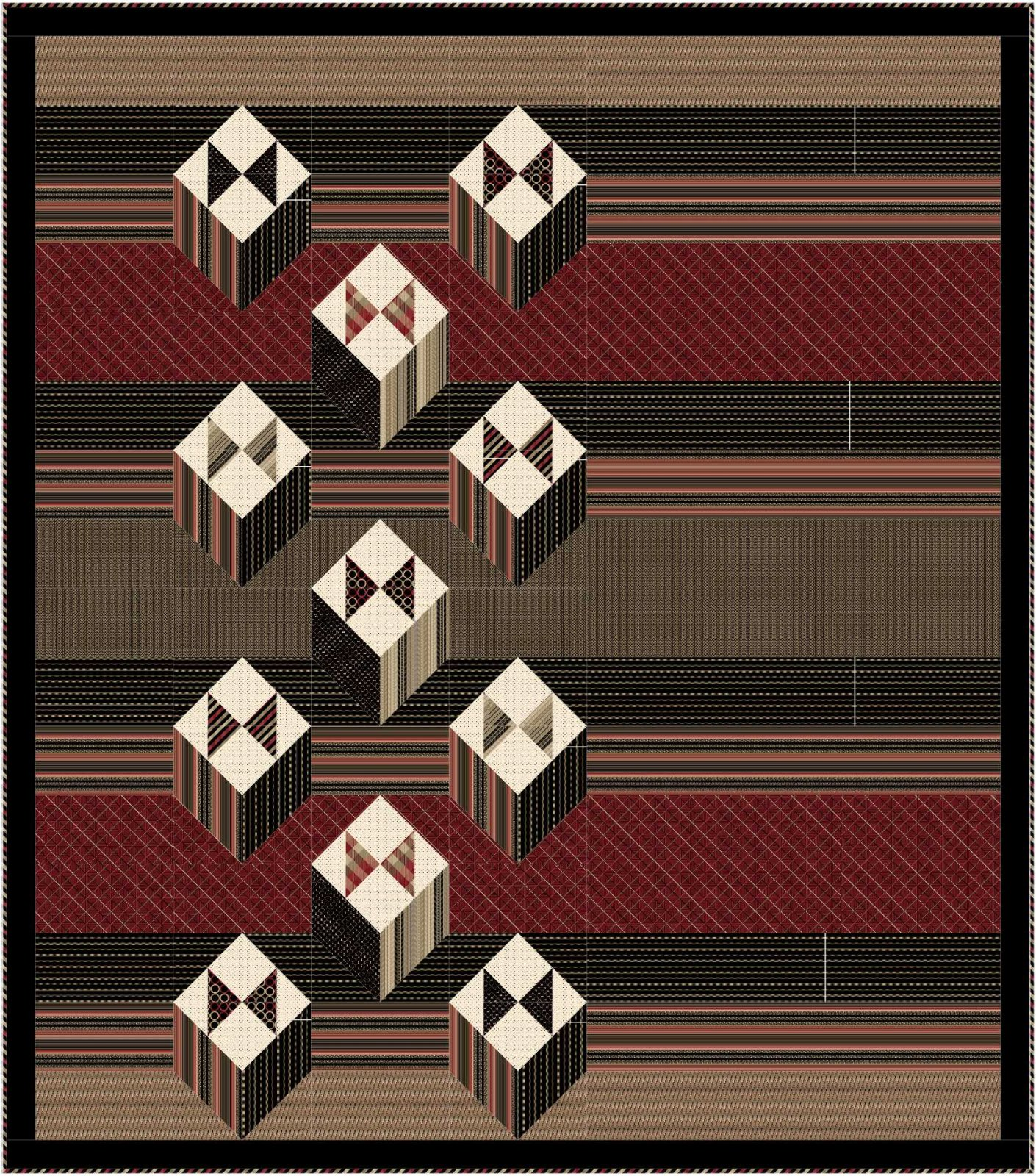 Boxed Bow Ties quilt pattern - downloadable