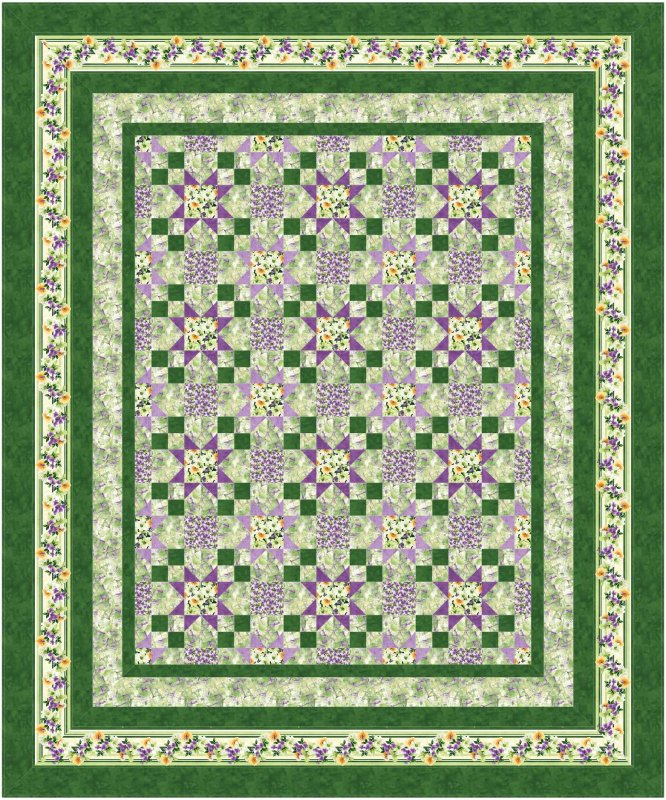 Water Color Garden - quilt pattern - downloadable