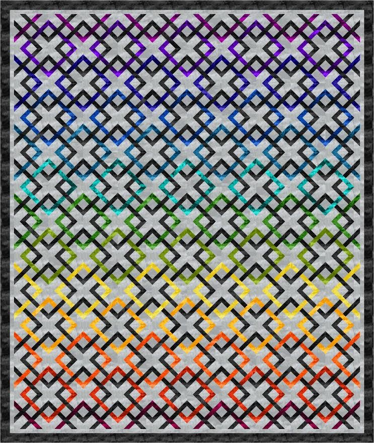 Pot of Gold  - Queen and Throw Quilt Pattern - downloadable