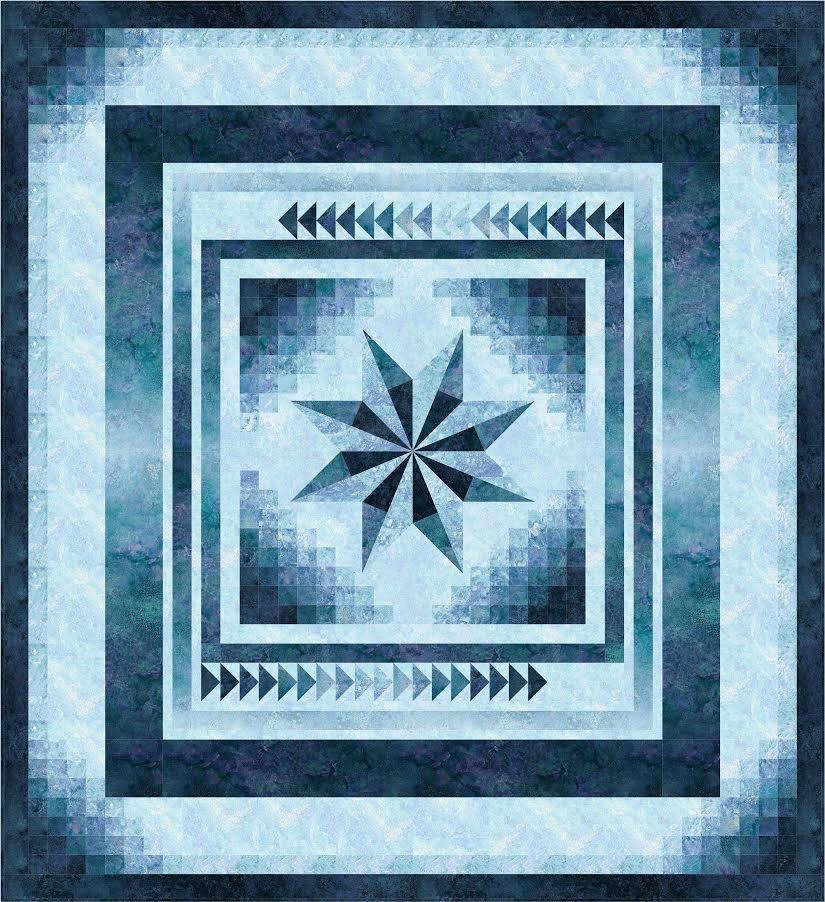 Gradient Star quilt pattern - downloadable