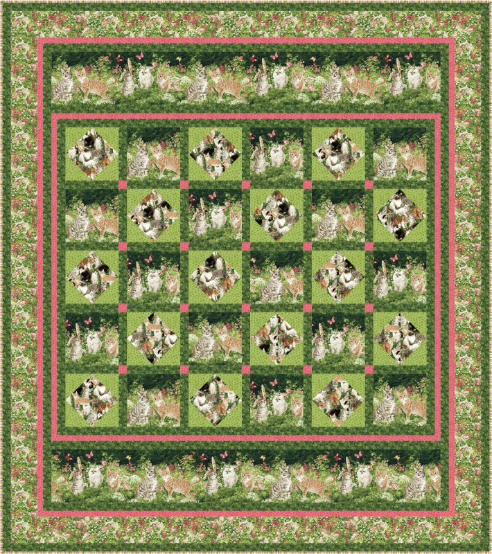 The Cat's Meow quilt pattern - downloadable