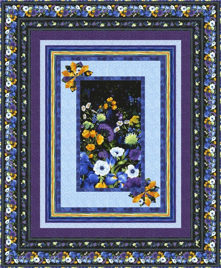 Simply Framed quilt pattern - downloadable