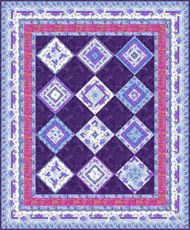 Kaleidoscope Diamonds quilt pattern - downloadable