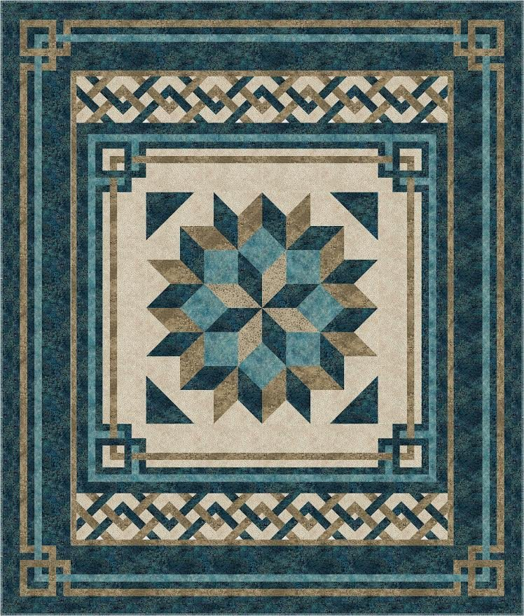 1Carpenter's Square quilt kit - queen size - Shimmer