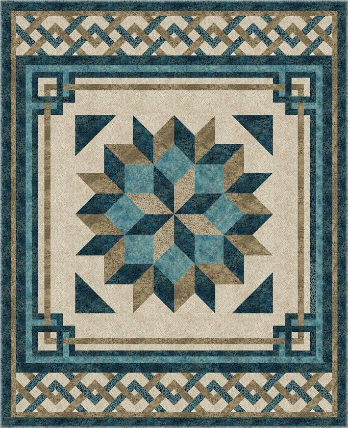Carpenter's Square quilt kit - Twin/Throw size