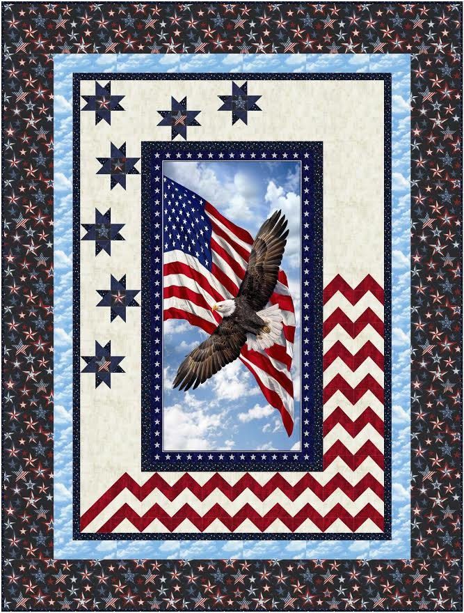 Spacious Skies quilt pattern - downloadable