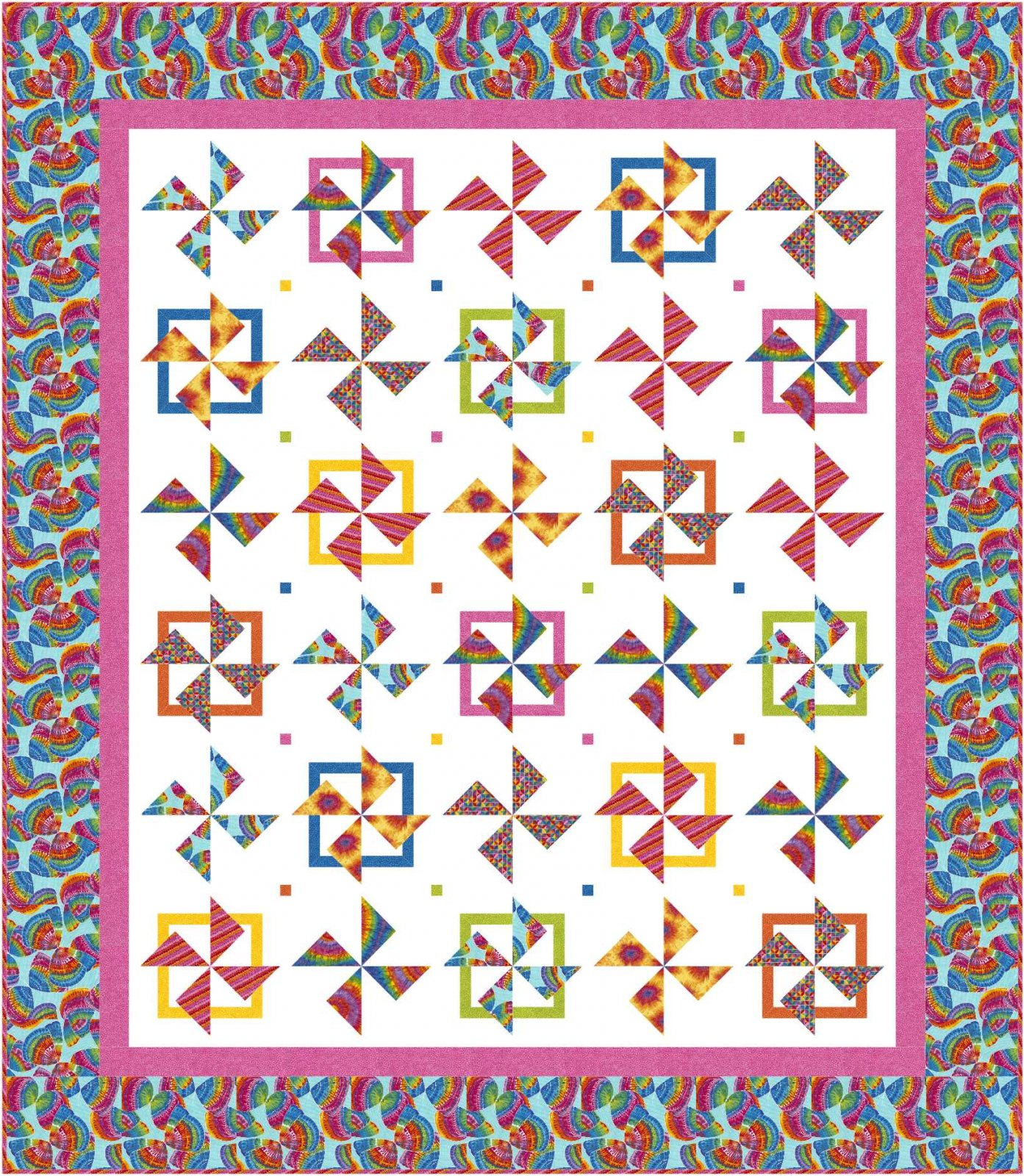 Spin City quilt pattern - downloadable