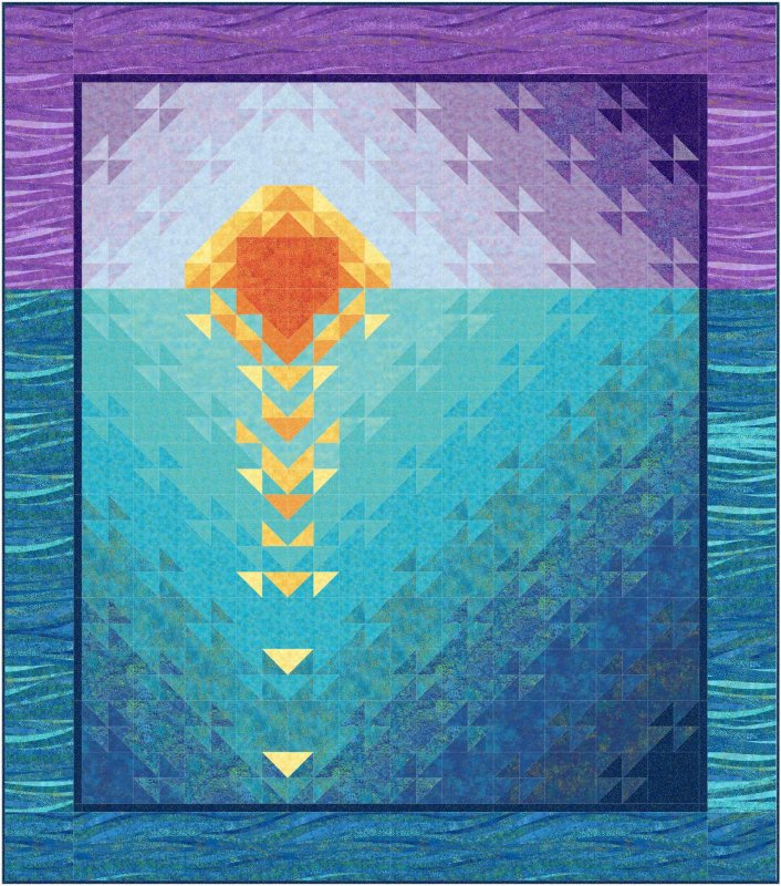 Sunset at Sea quilt Kit - Lap size