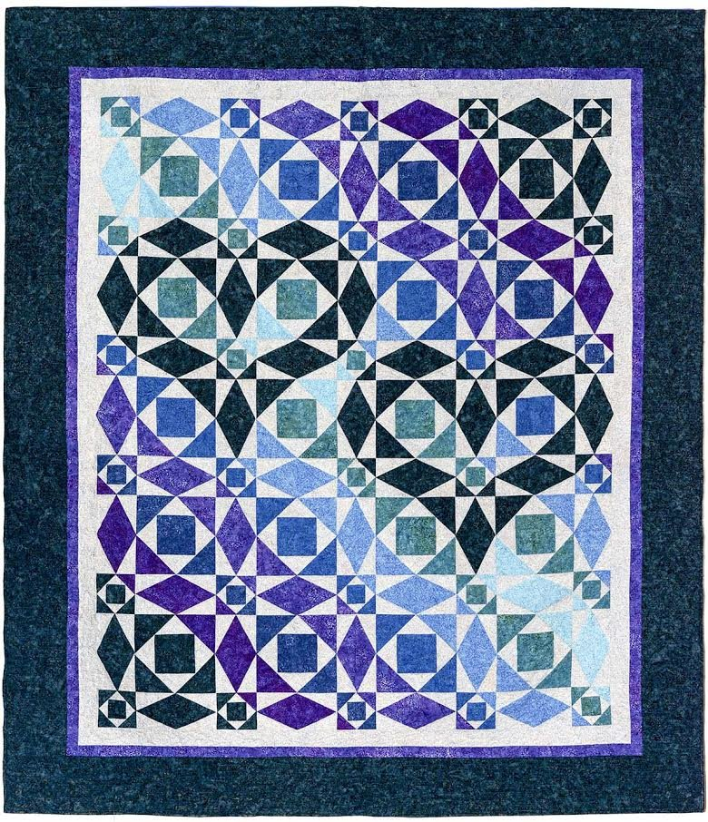 Our Hearts Will Go On quilt kit - Banyan Batiks.   King size available by request.