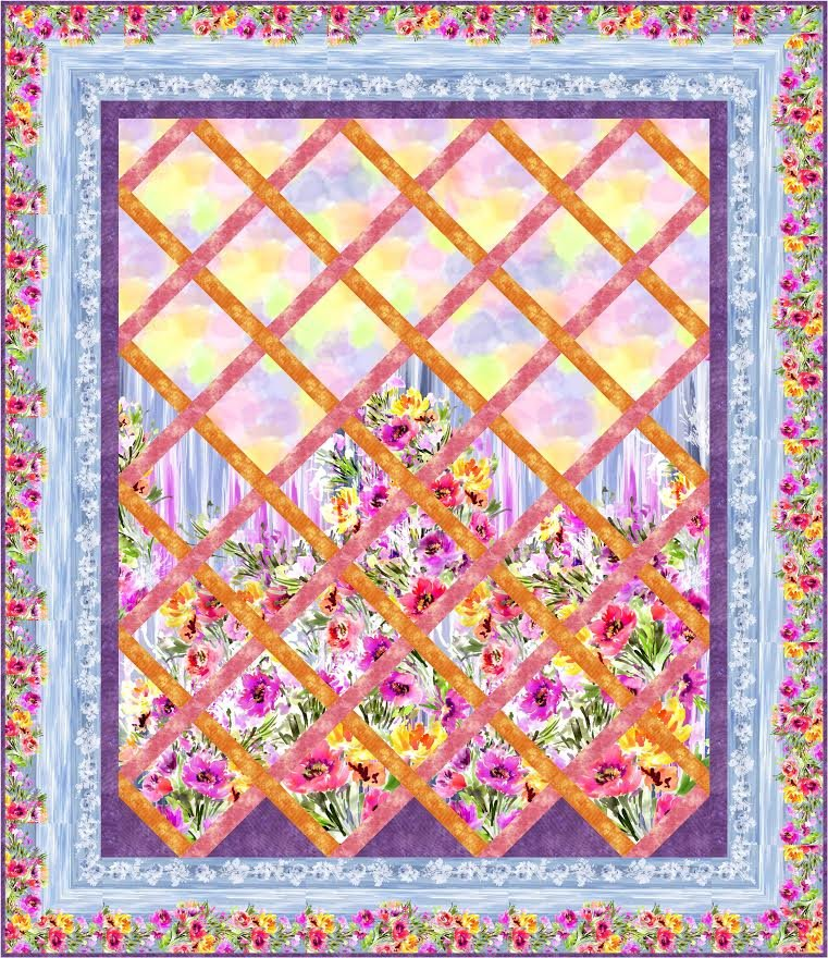 Garden View quilt pattern - downloadable