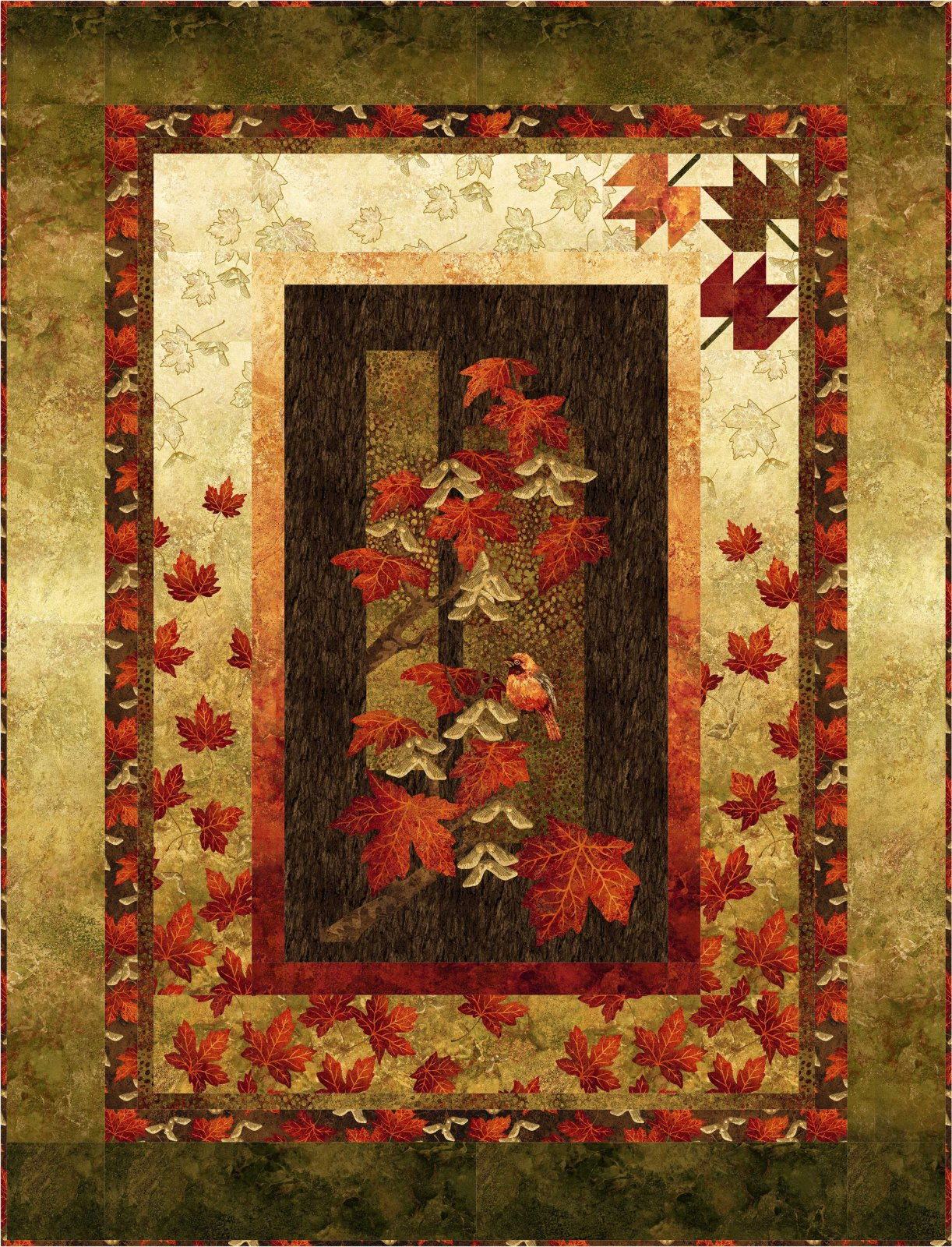 Autumn Splendor Throw/Lap kit - red