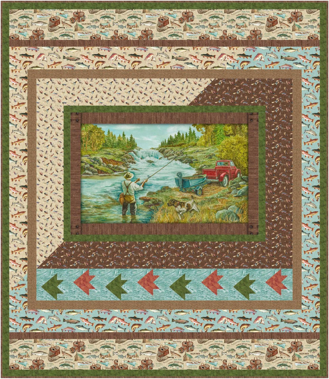Go Fish twin quilt kit