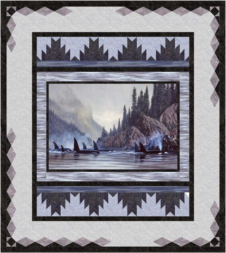 Reflections - Twin/Throw size Quilt kit