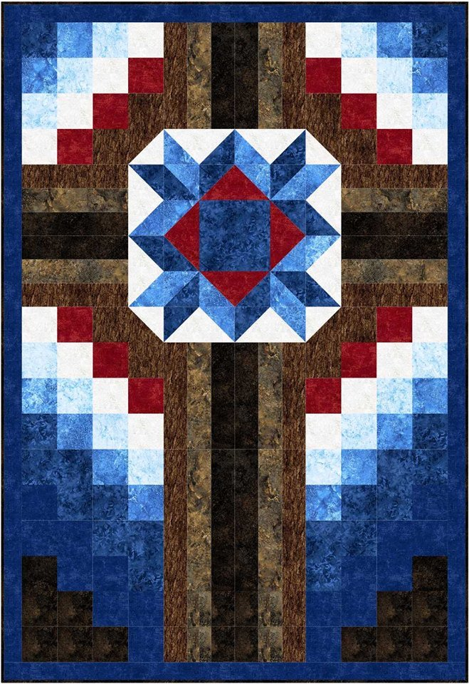 The Old Rugged Cross quilt kit - throw size