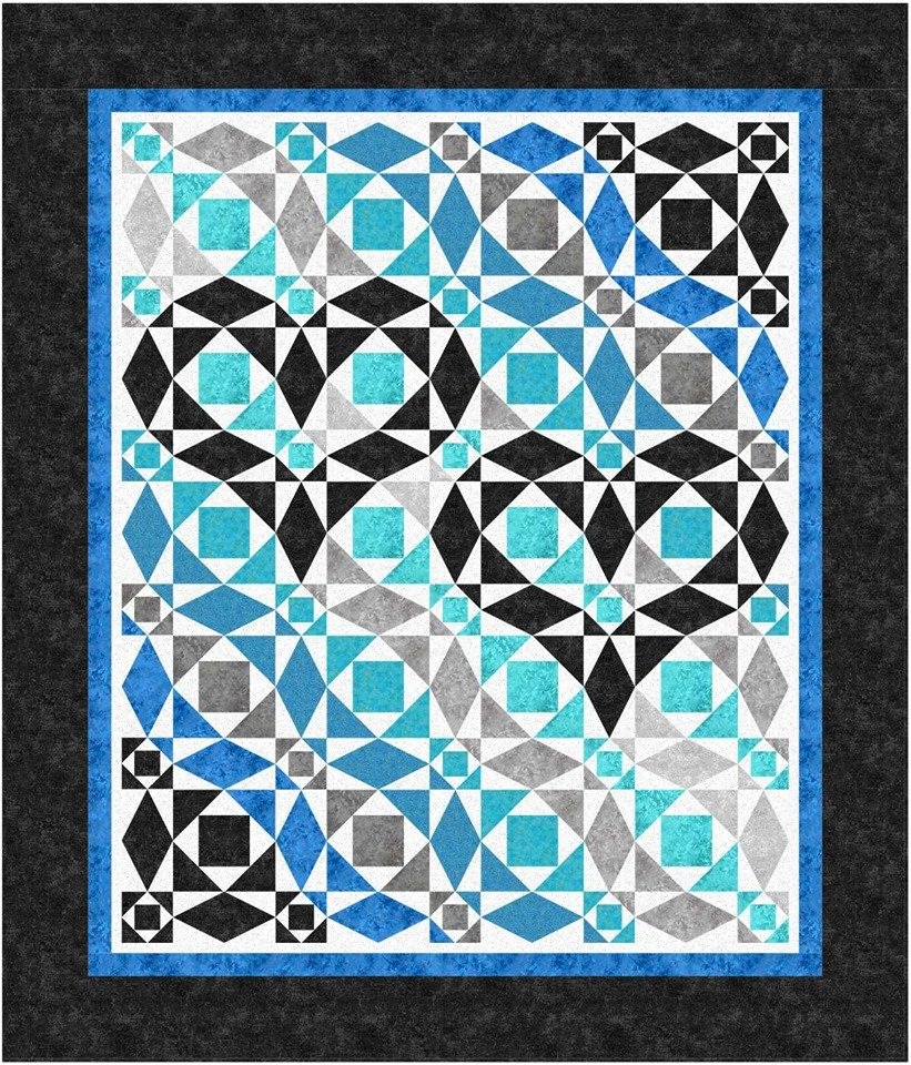 Our Hearts Will Go On quilt kit - Northcott BGA.  King size available by request.