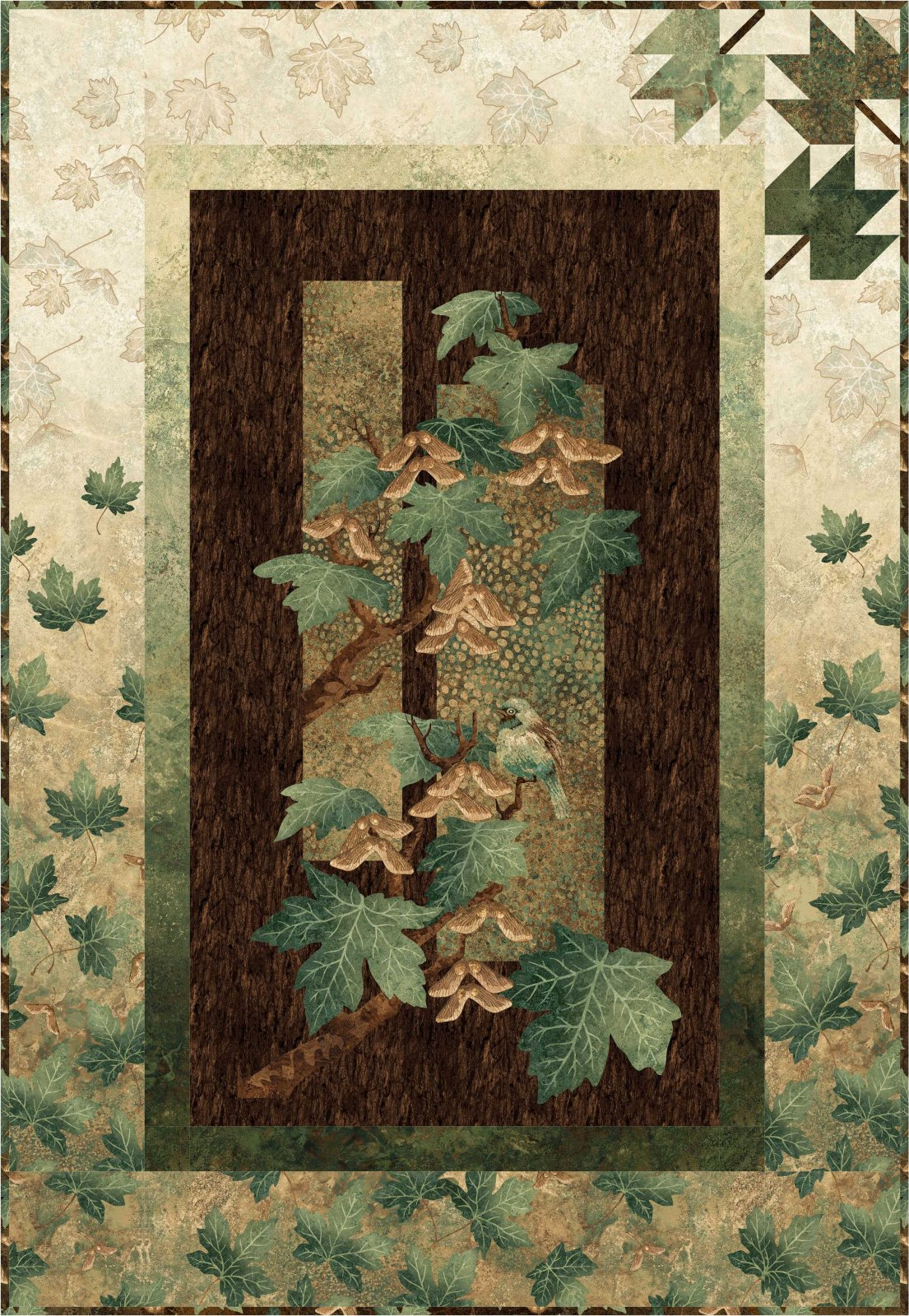 Autumn Splendor Wall Hanging kit - green