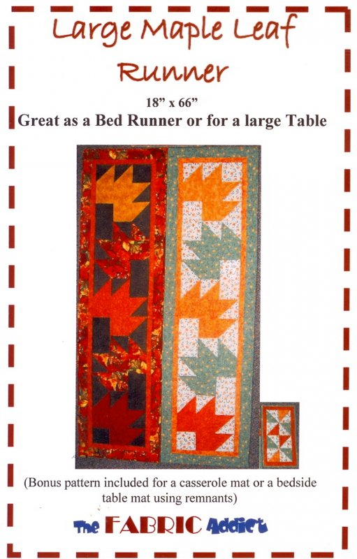 Downloadable Large Maple Leaf Runner Pattern