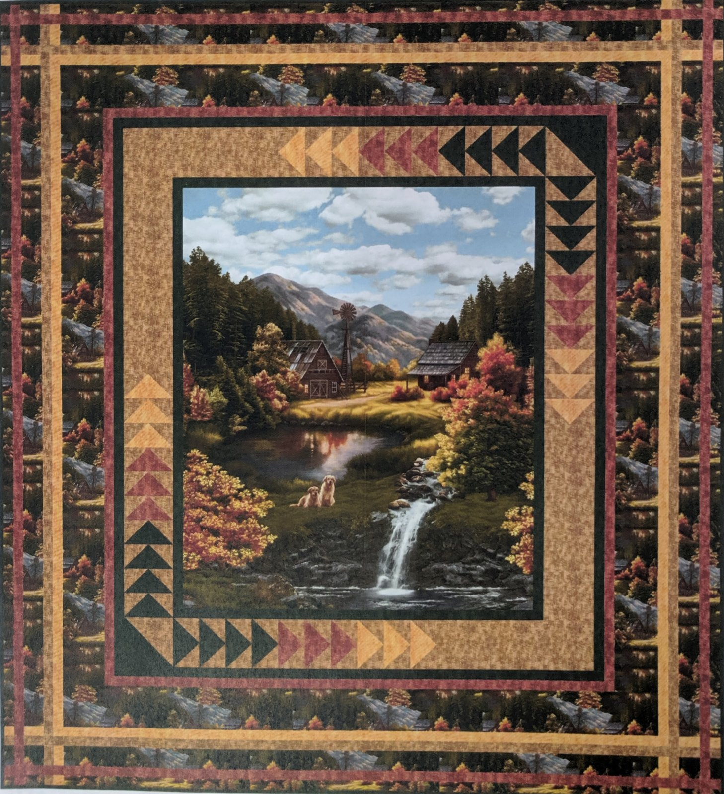 Weekend Retreat quilt kit - Twin size