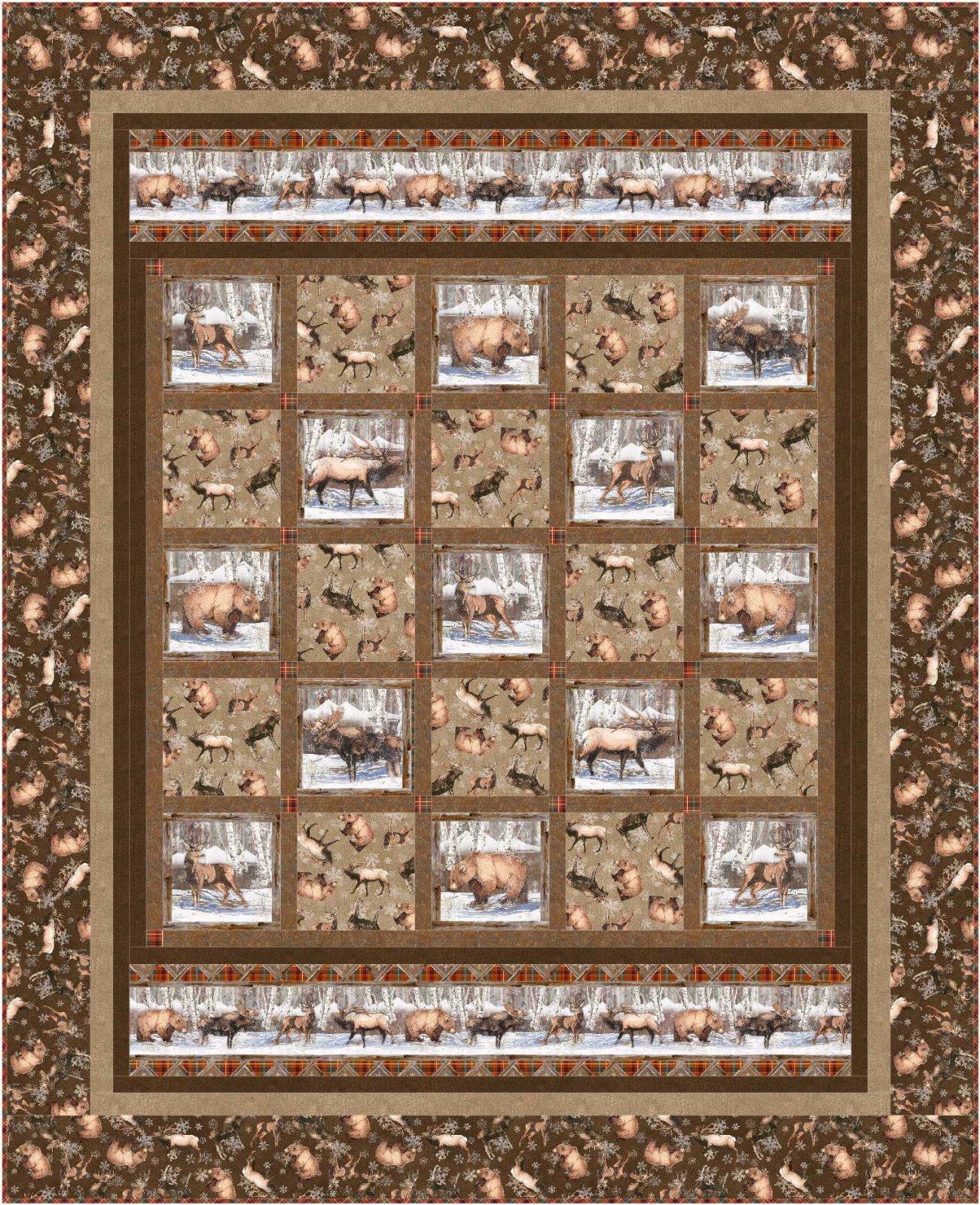 Winter Frolic quilt pattern - downloadable
