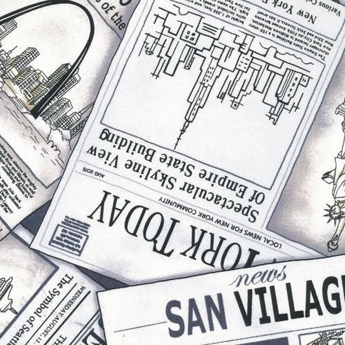 CITYSCAPES NEWSPAPER GREY 12012362