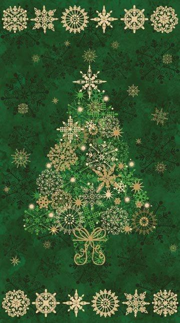 - Stonehenge Starry Christmas Tree Panel 20101M-79