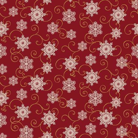 A FESTIVE SEASON 2 - Red Snow Fall Swirl w/Metallic 2655M 10