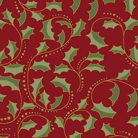 A FESTIVE SEASON 2 - Red Leaf Scroll w/Metallic 2657M 10