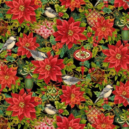 CHRISTMAS JOY - CHRISTMAS POINSETTIA W/METALLIC 4693MS 99