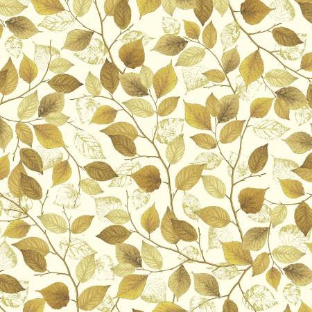 Autumn Splendor 8414M 07 Fall Foliage  Cream/Umber w/Metallic