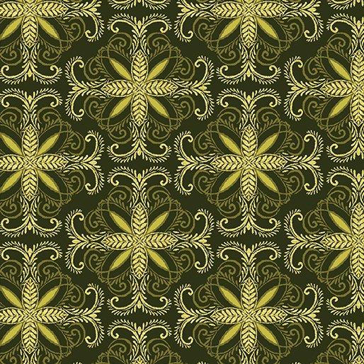 Autumn Splendor 8415M 49 Fall Filagree Olive w/Metallic