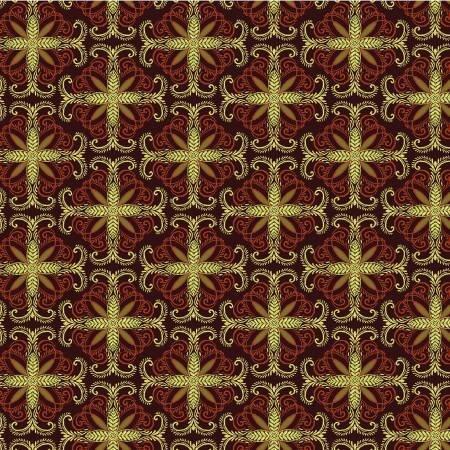 Autumn Splendor  8415M 87 Fall Filagree Burgundy w/Metallic