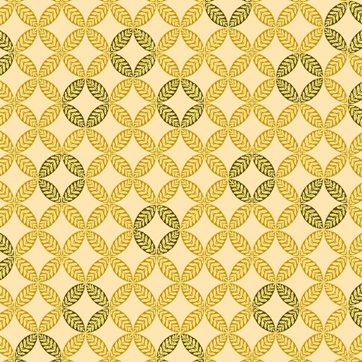Autumn Splendor  8416M 30 Fig Leaf Geo Maize w/Metallic
