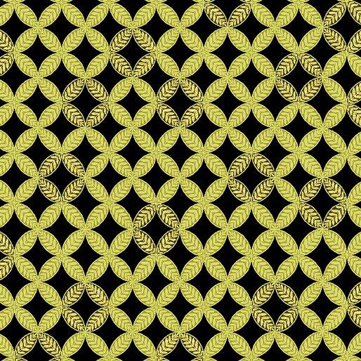 Autumn Splendor  8416M 49 Fig Leaf Geo Olive w/Metallic
