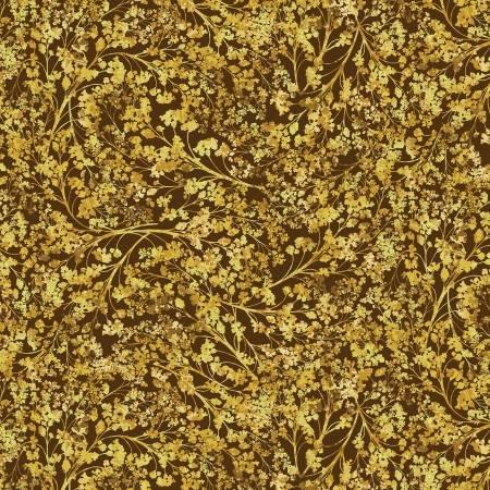 Autumn Splendor 8418M 77 Autumn Willow  Brown/Gold w/Metallic