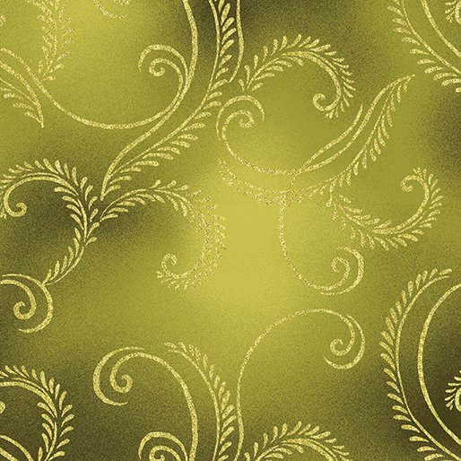 Autumn Splendor 8419M 49  Garland Olive/Gold w/Metallic