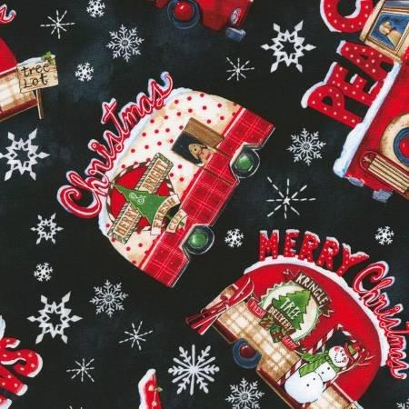 CHRISTMAS CAMPER & TRUCK C6070 BLACK